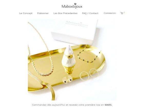 Maboxbijoux avis : ergonomie du site web